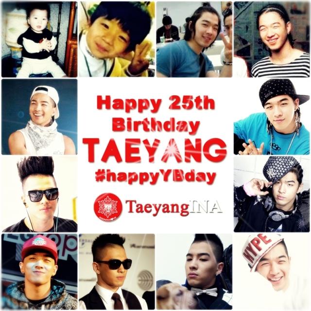 Taeyang 25th birthday